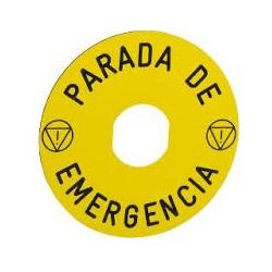 ETIQ.CIRC.PULS.SETA PARADA EMERGENCY