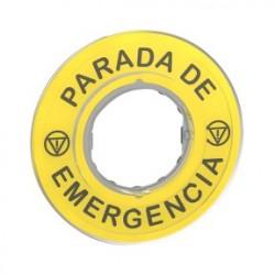 ETIQUETA PARADA EMERGENCIA 3D