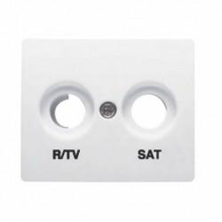 TAPA T.R/TV-SAT SERIE IRIS/AURA BLANCA