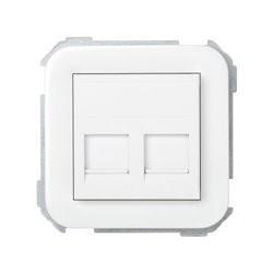 ADAPTADOR 2 CONECTORES RJ-AMP SIMON 31BLANCO