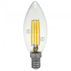 FLAMA LED de Filamento 4W E14 30K