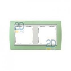 Marco 2 Elementos Verde /Zocalo Blanco 82621-65