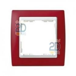 Marco 1 Elemento Rojo Transluc/Zoc.Blanco 82613-37