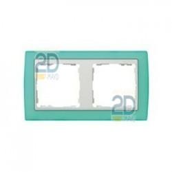 Marco 2 Elementos Verde Transluc./Zoc.Blanco 82623-65