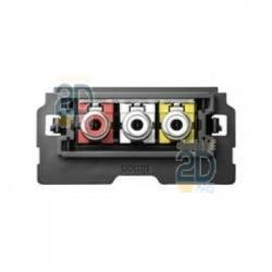 Conector 3 RCA 10000565-039