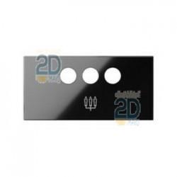 Tapa Para Conector 3rca Negro 10001093-138
