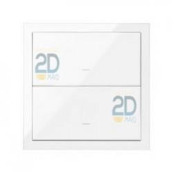 Kit Front 1 Elemento 2 Teclas Blanco 10020103-130