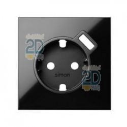 Kit Front 1 Elemento Base Con Cargador Usb Negro 10020109-138
