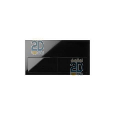 Kit Front 2 Elementos 2 Teclas Negro  10020201-138