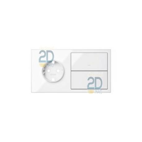 Kit Front 2 Elementos Base + 2 Teclas Blanco  10020204-130