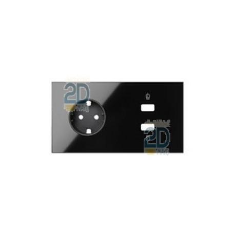 Kit Front 2 El. Base + Cargador 2xusb Negro  10020205-138