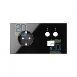Kit Front 2 Elementos Base + Tv + Rj45 Negro  10020208-138