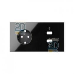 Kit Front 2 Ele.Base + Cargador Usb Doble Carga Rápida Negro 10020210-138