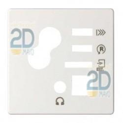 Tapa Mando Digital Con Sintonizador Fm Blanco 82522-30