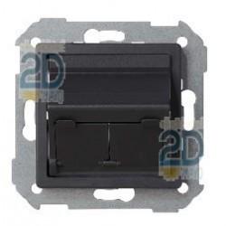 Adaptador Universal 2 Conectores Grafito 82579-38