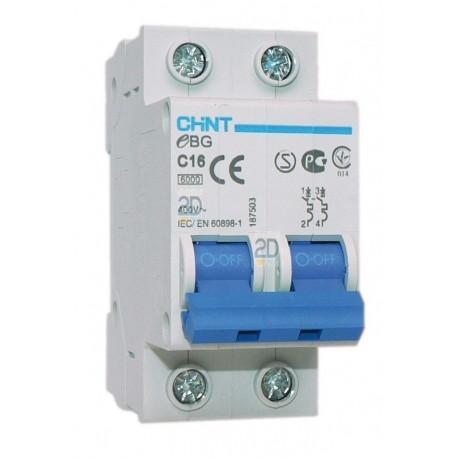Interruptor magnetotérmico 2 Polos Curva C 6Ka