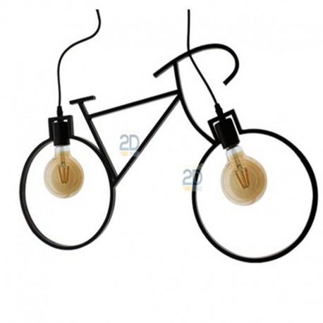 Lampara-colgante-techo-forma-bicicleta-color-negro