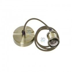 Casquillo-metal-y-floron-plano-color-cuero-viejo-con-un-metro-de-cable