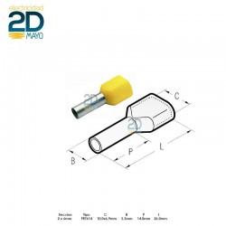 puntera-doble-hueca-preaislada-pkt-614-amarilla-2-x-6-mm